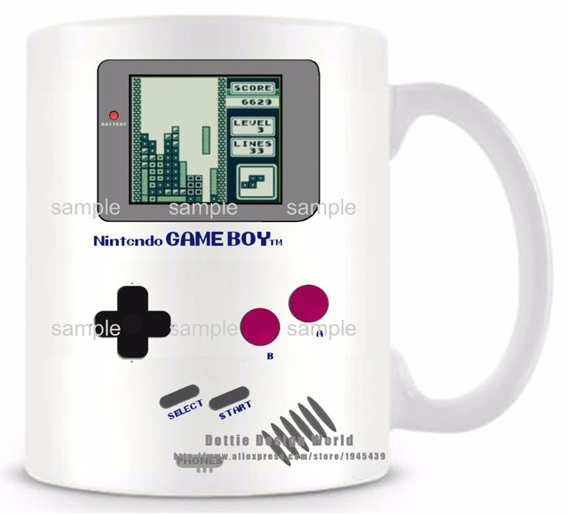 DIY New Gameboy Ceramic white coffee tea milk mug Pokemon funny novelty travel cup Personalized Birthday Easter gifts 4