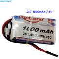 3pcs Redzone 1000mAh lipo battery 25C 7.4V 2s 1p for Sanwa MT4 remote control transmitter