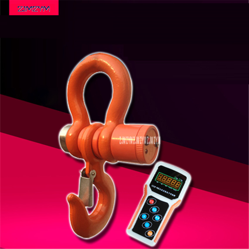 3T Wireless font b Digital b font Electronic Hanging Crane Scale With Wireless Handheld Meter OSC