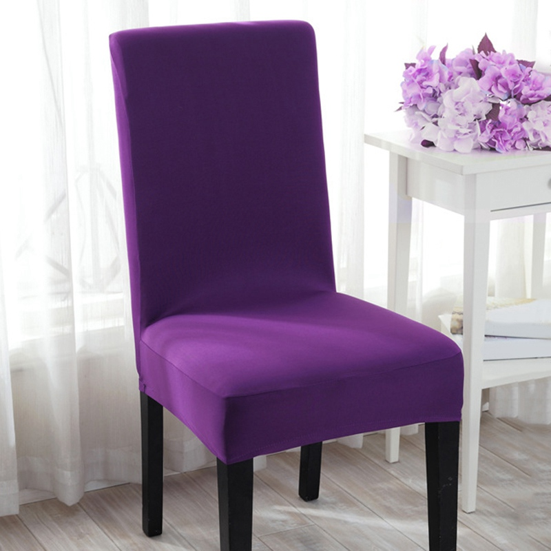 Hot Sale Spandex Chair Cover Dining Stretch Slipcover Home Hotel Wedding Supplies Solid Color
