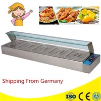 Stainless Steel Electric Bain Marie With 5 Pans For Commercial Kitchen Insulated Electric Food Warmer Machine