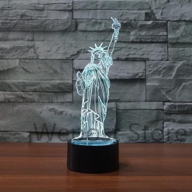 american statue of liberty 3d model creative night light ornaments