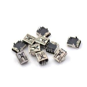10Pcs Mini DIY USB Female 5 Pin Type B Right Angle PCB Socket Connector 2 Legs