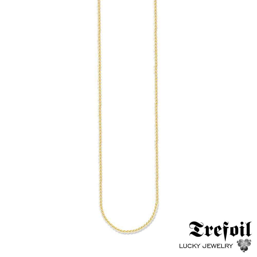 Gold Color Venezia Link Chain Necklace,2018 New Fashion Jewelry Ethnic Accessory 925 Sterling Silver Chains Gift For Men Women