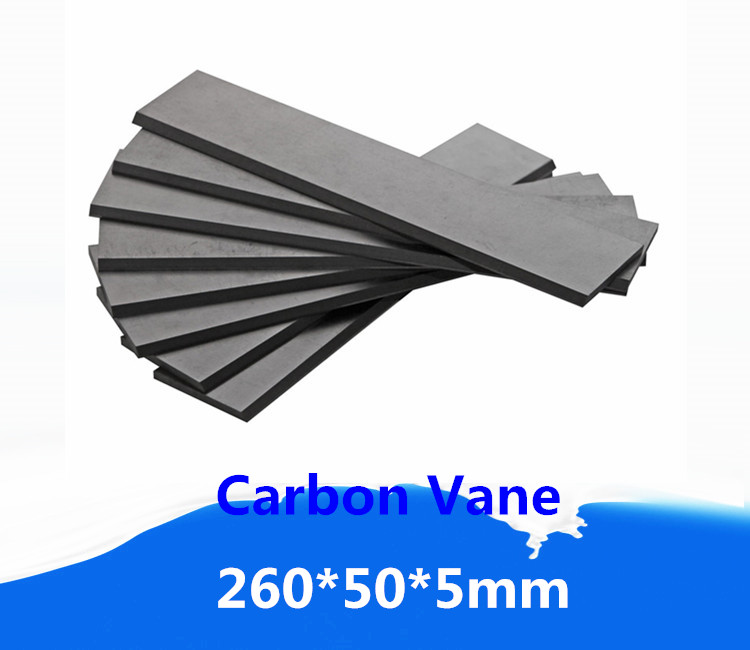 US 4 0 260x50x5mm Carbon Graphite Vane For Becker Rotary Vane Compressor Carbon Blade For Vane Pumps In Clamps From Home Improvement On