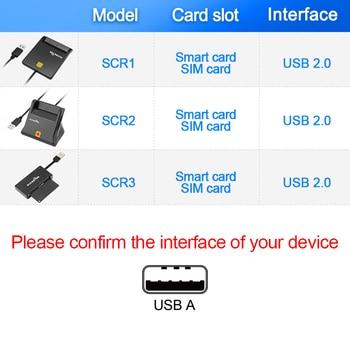 Rocketek USB 2.0 Smart Card Reader CAC ID,Bank card,sim card cloner connector cardreader adapter pc computer laptop accessories. 1