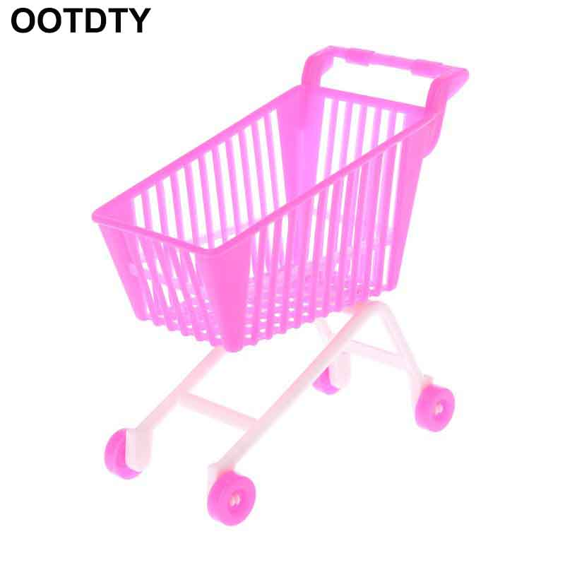 Pink Fairy Wishes Bench Seat With Storage Toy Box Seating: Doll Shopping Cart Plastic Cute Miniature Mini Supermarket