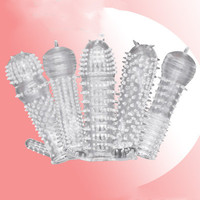 Men's Sex Products 20 Spangles Crystal Set Men's Spikes Penis Sets Clitoris Massager Sex Products