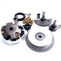 Kick Start Kickstarter Shaft Gear Spring + Front Clutch Variator With Roller weight Fan For 139QMB GY6 50cc Scooter Moped ATV
