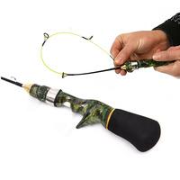 1PC 50cm 60cm Camouflage Gun Type Ice   Fishing     Rod   Super Soft Strong Mini Shrimp   Fishing     Rod   for Boat Sea   Fishing