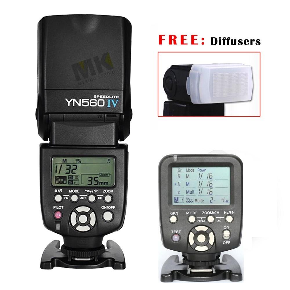 накамерный свет для фотоаппарата вспышка для фотоаппарата Фотовспышка yongnuo Yn-560iv вспышку Yongnuo Speedlite оптический раб флэш-вспышки + YN560-TX LCD флэш триггера дистанционного управления руководство управления