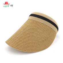 2019 Female Sun Cap Women Summer Straw Hat Ponytail Girl Visor Protection Caps for Ladies