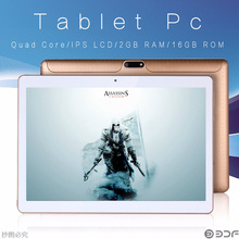 BDF 10 Inch Tablet Android Tablet Pc 3G Sim Phone Quad Core 1280x800 IPS WiFi 2G/16G