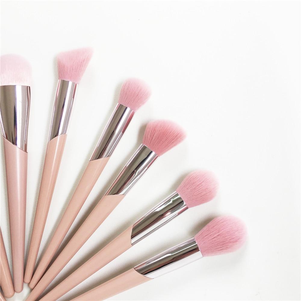Image 5 - Набор из 15 кистей для макияжа, набор 110 кистей для нанесения  основы, 120 кистей, для растушевки теней, 210 для растушевки розовых  волосАппликатор теней для век