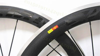 50mm 60mm Carbon Bike Wheels Alloy Braking Surface Wheels Custom Decals Alloy Wheels 23mm Wide Alloy