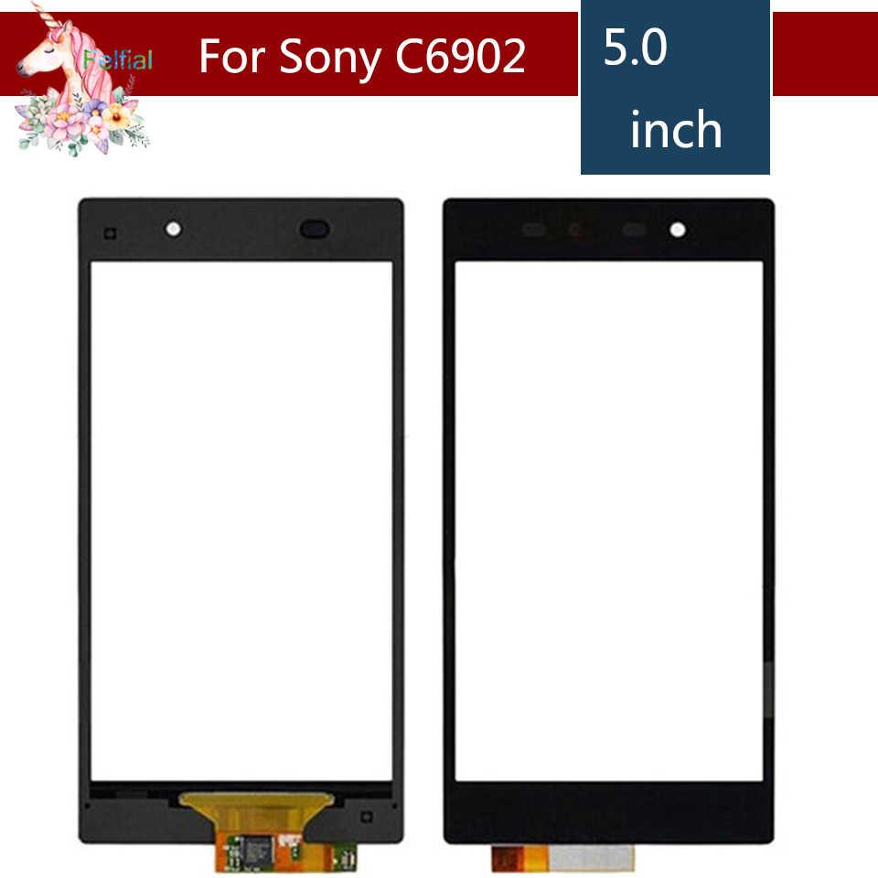 """5.0 """"pour Sony Xperia Z1 L39 L39H C6902 C6903 LCD écran tactile numériseur capteur extérieur verre lentille panneau de remplacement"""