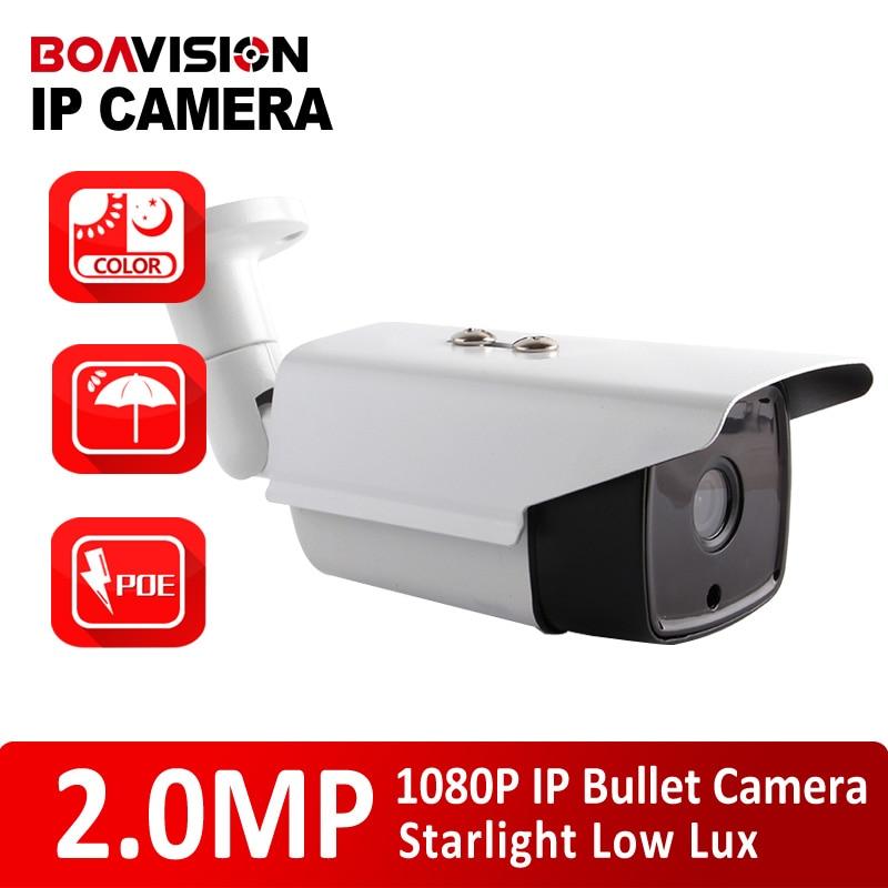 """bilder für Gewehrkugel-2mp Sternenlicht Ip-kamera Im Freien 1080 P POE 1/2. 8 """"0.0001Lux Low Lux Tag/Nacht Farbe bild Cctv-kamera, 3,6 MM Objektiv"""
