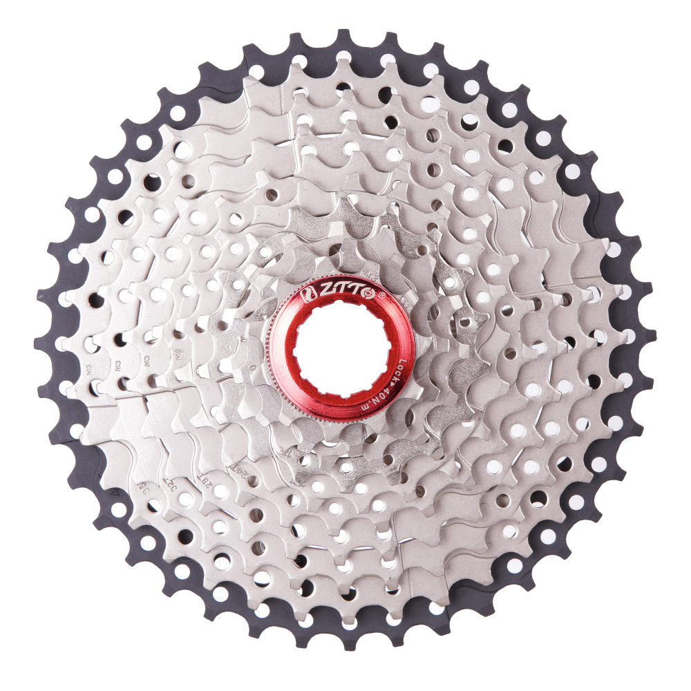 ZTTO 10 Speed <font><b>11</b></font> -<font><b>42T</b></font> Cassette Silver 10s Steel Freewheel Parts for Mountain Bike Racing version Cassette flywheel image