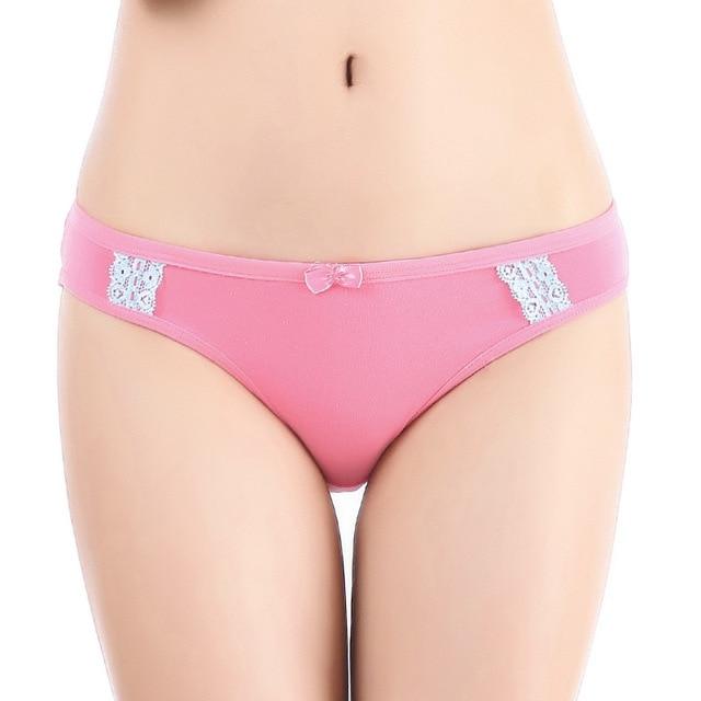d9ebd5681e Free Shipping 3pcs lot Women Cotton Underwear Girl Panties Lace Briefs  Knickers Lingerie Wholesale Sexy Briefs Intimates