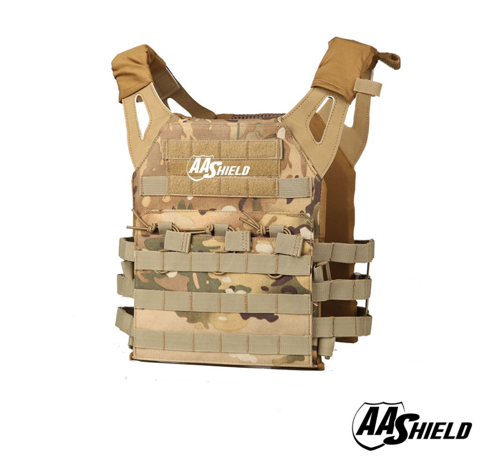 AA Shield Molle Hunting Plates Carrier Lightweight Military Tactical Vest JPC Style / MC aa shield camo tactical scarf outdoor military neckerchief forest hunting army kaffiyeh scarf light weight shemagh desert dig