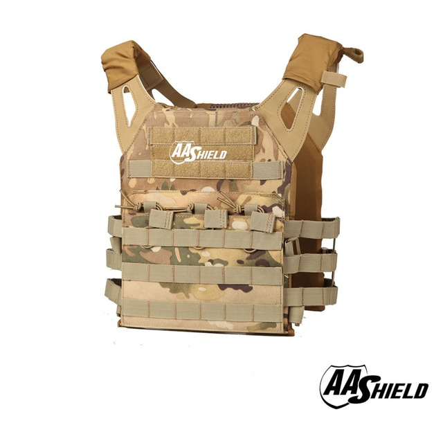 AA Shield Molle Hunting Plates Carrier Lightweight Military Tactical Vest JPC Style / MC