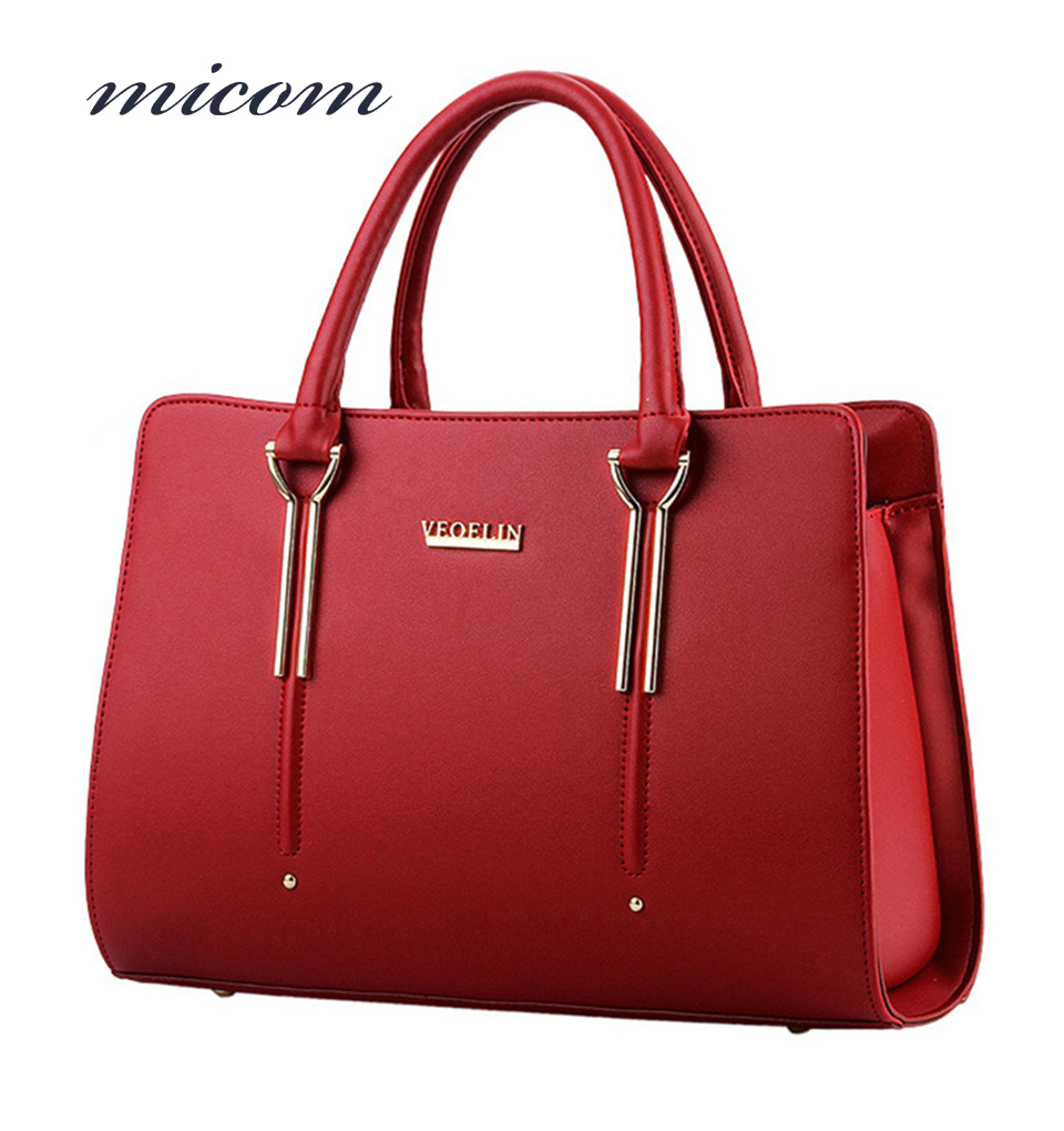 Micom Top-Handle Bags Women Leather Handbags Elegant Ladies Casual Tote bag Designer Hand Bags Big Hot Bolsos Mujer High Quality