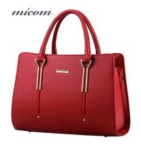 Micom Top-Handle Bags Women Leather Handbags Elegant Ladies Casual Tote bag Designer Hand Bags Big Hot Bolsos Mujer High Quality
