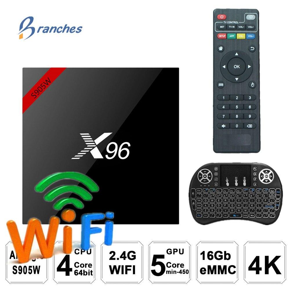 X96 X96W Android 7.1 TV Box WiFi S905W smart box tv android 2 gb di ram Quad Core Set-top scatola di tvbox 4 k Media Player X 96 set-top box