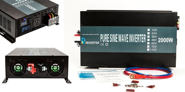 4000W Peak 2000W 24V 220V DC AC Converter LED Display Off Grid Ture Pure Sine Wave Solar Power Inverter With Remote Controller