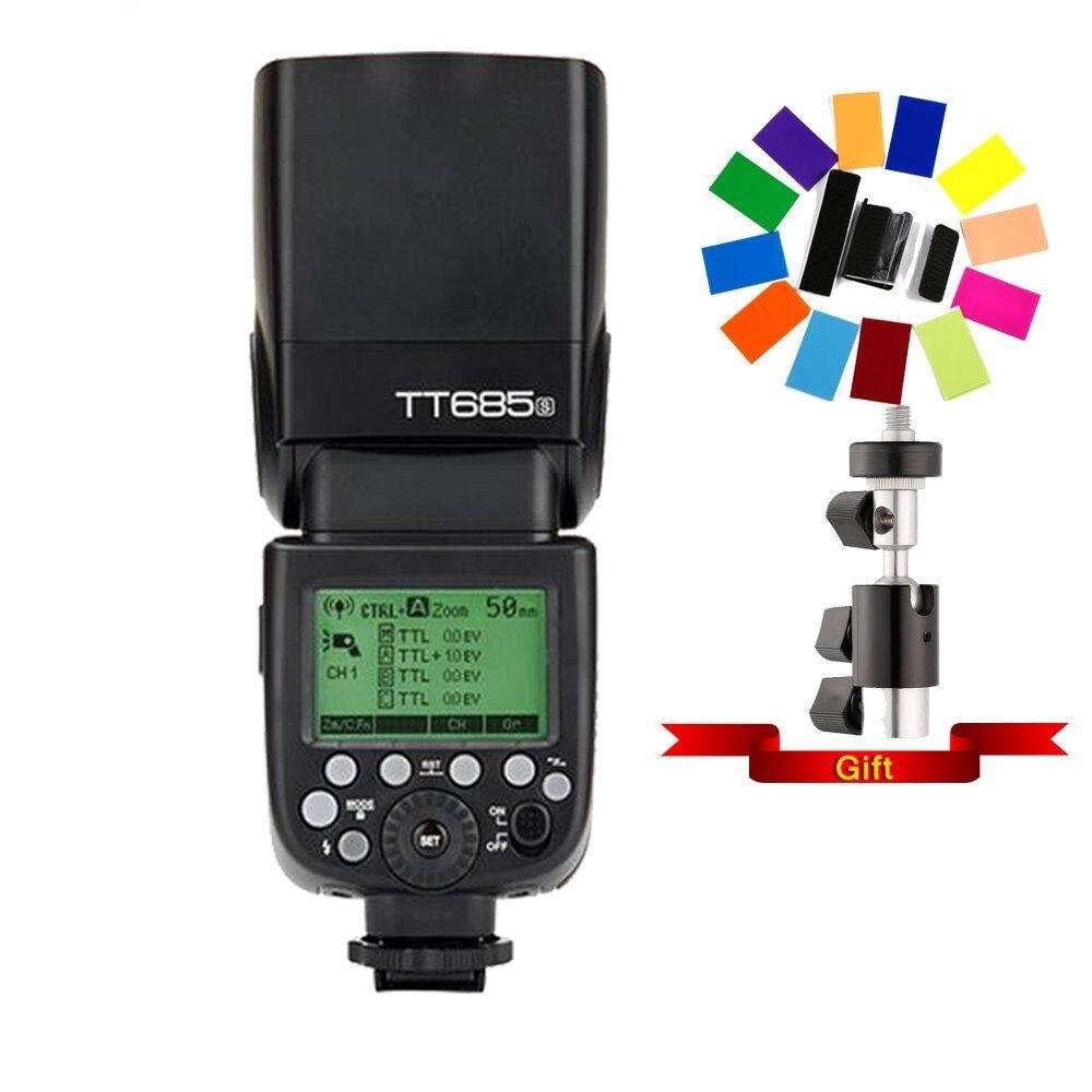 Godox TT685S DSLR A6300 A99 A58 6000L 2.4G HSS TTL GN60 Camera Flash  TT685O TT685N TT685F CD15Godox TT685S DSLR A6300 A99 A58 6000L 2.4G HSS TTL GN60 Camera Flash  TT685O TT685N TT685F CD15