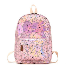 Plecak szkolny mochila escolar plecak dziecięcy sac a dos enfant plecaki dla dzieci plecaki szkolne holograficzne plecaki dziecięce tanie tanio Torby szkolne Laser fabric zipper LXFZQ Unisex 13cm 0 52kg 38cm Stałe 25cm