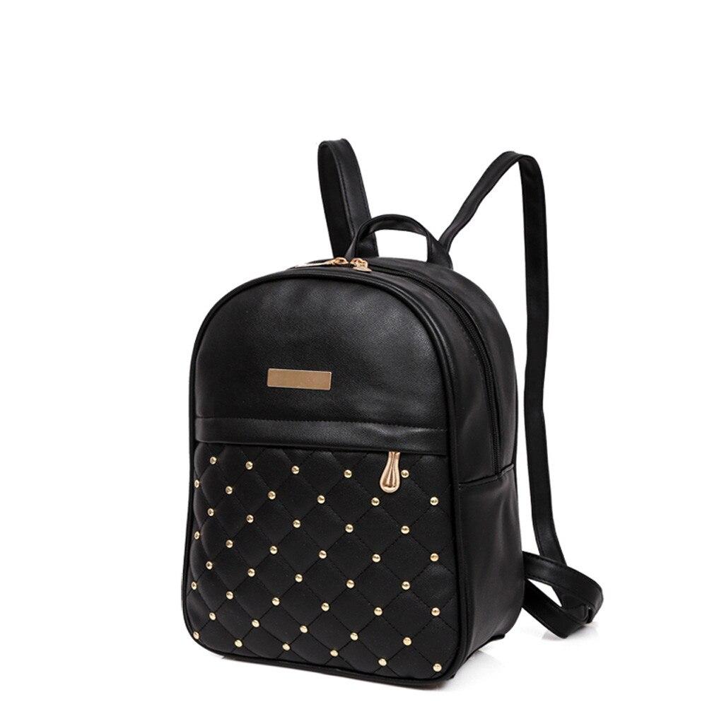 HTB1PwSGLHvpK1RjSZPiq6zmwXXao OCARDIAN Woman packet Fashion Causal Bags Bead Female Shoulder Bag Backpacks Women Rivet Backpack dropship 19M12