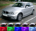 Para BMW E87 Série 1 E88 2004-2011 faróis de Halogéneo Excelente Ultrabright LED RGB Angel Eyes Multi-Cor Angel Eyes kit