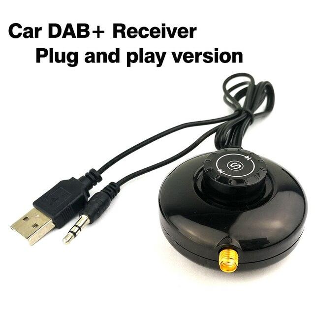 Car Digital Radio Car DAB+ Receiver with Antenna Digital Audio Broadcast Receiver Installation-free Plug and play version