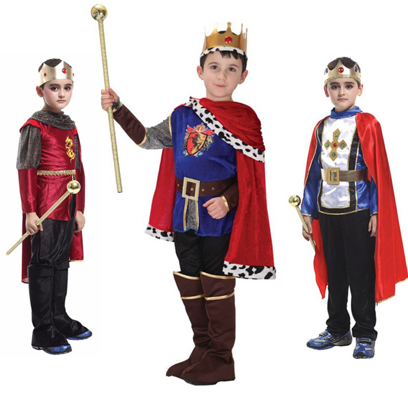 Kids King Prince Cosplay Costume for Children Boys Christmas New Year Family Party Dress Fantasia European royalty clothing