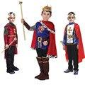 Halloween cosplay crianças prince traje para o dia das crianças o rei trajes crianças meninos roupas fantasia realeza europeia