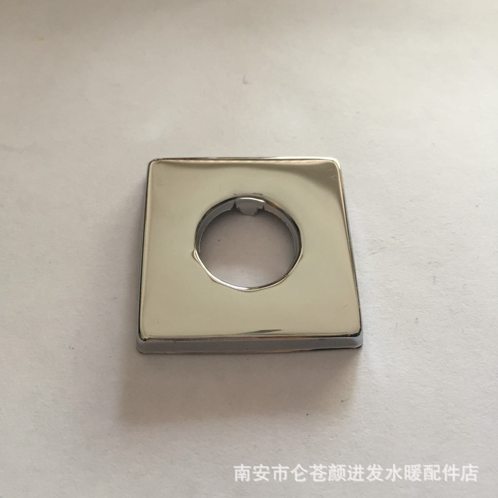 1/2 Stainless Steel 201 Polished Plating, 4/8 Square Triangle Valve Faucet Decorative Cover Kitchen & Bathroom Accessories Cover