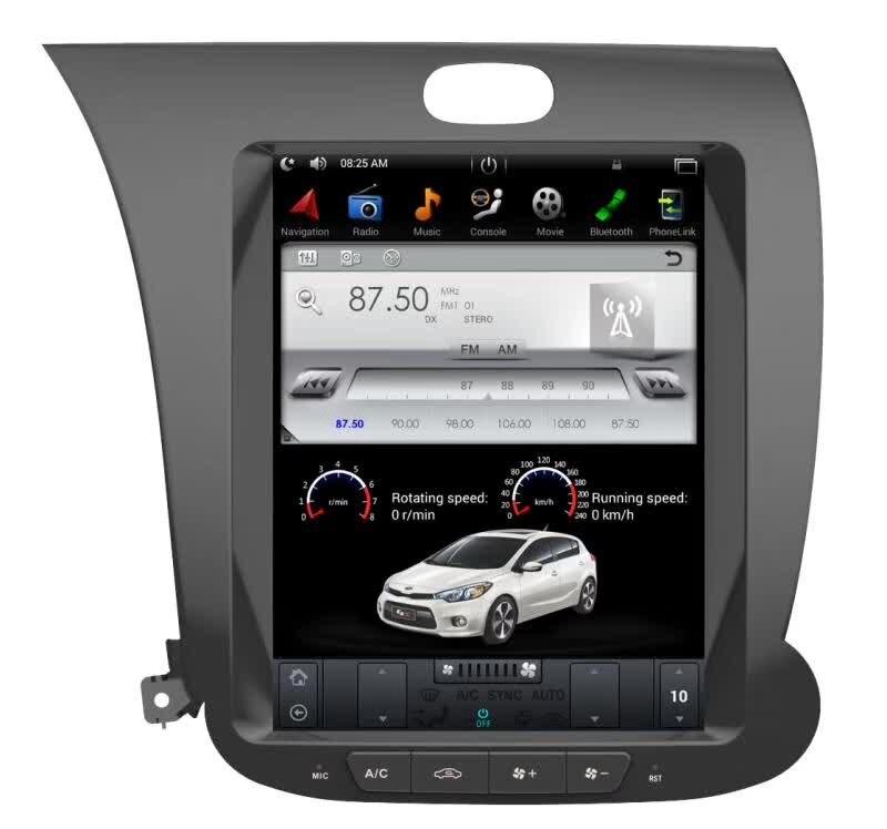 Tesla Style 2 Din Android 7 6.0 lecteur DVD de Navigation GPS de voiture pour KIA CERATO K3 FORTE 2013-2016 amplificateur de chauffage de siège gauche