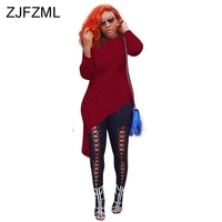 Long Sleeve Casual T Shirt Dress New Arrival Women White Round Neck Slim Fit Irregular Dress Streetwear Burgundy Party Dresses