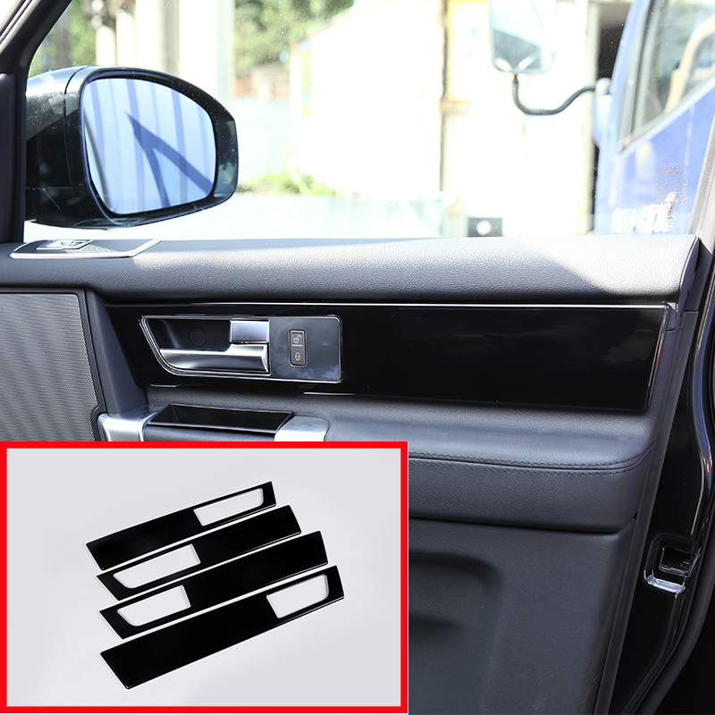 4 Pcs For Land Rover Discovery 4 LR4 Interior Door Handle Panel Cover Trim ABS Glossy