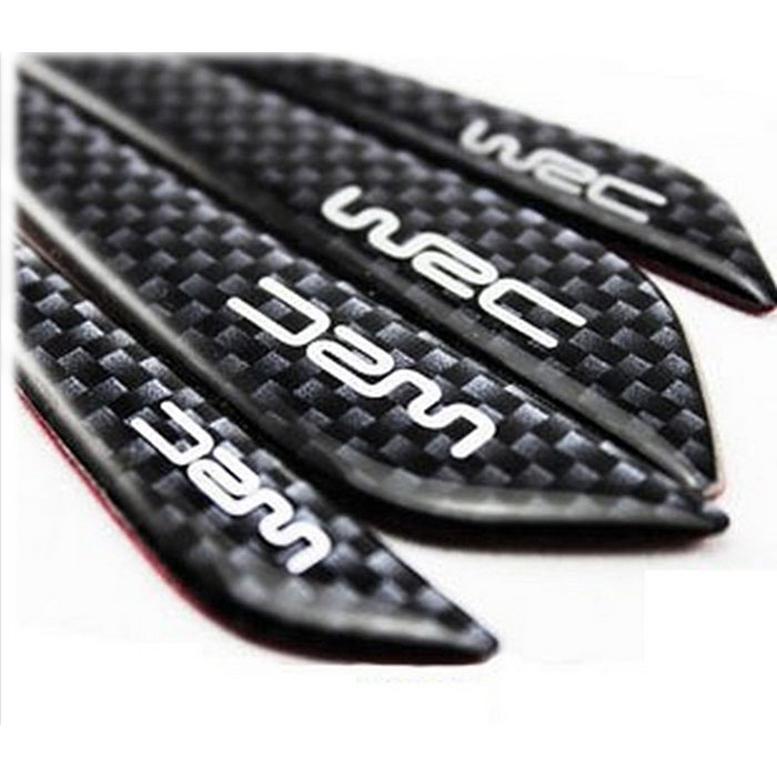 New arrival WRC bumper strip Carbon fiber Car door Bumper Strip Car door scuff sticker for Daewoo Nexia