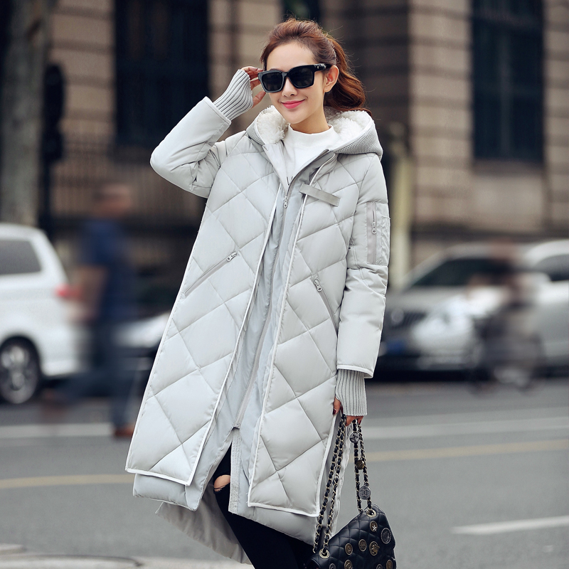 ФОТО New fashion Winter Women padded Jacket Female Slim long Down cotton Wadded Coat Women Hoodies Parkas Plus Size