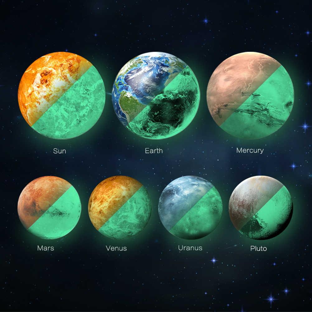 Mouldproof влагостойкий светится в темноте солнце 30 см 3D планета Светящиеся Настенные наклейки обои настенные наклейки флуоресцентные настенные Стикеры