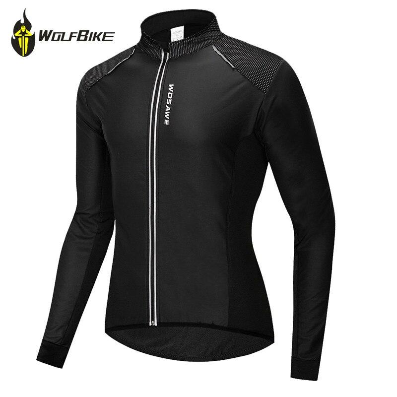 WOLFBIKE Fleece Camisa de Ciclismo dos homens Jaquetas de Ciclismo de Longa Bicicleta Manga Da Jaqueta À Prova D' Água À Prova de Vento Sports Wear Casacos Roupas