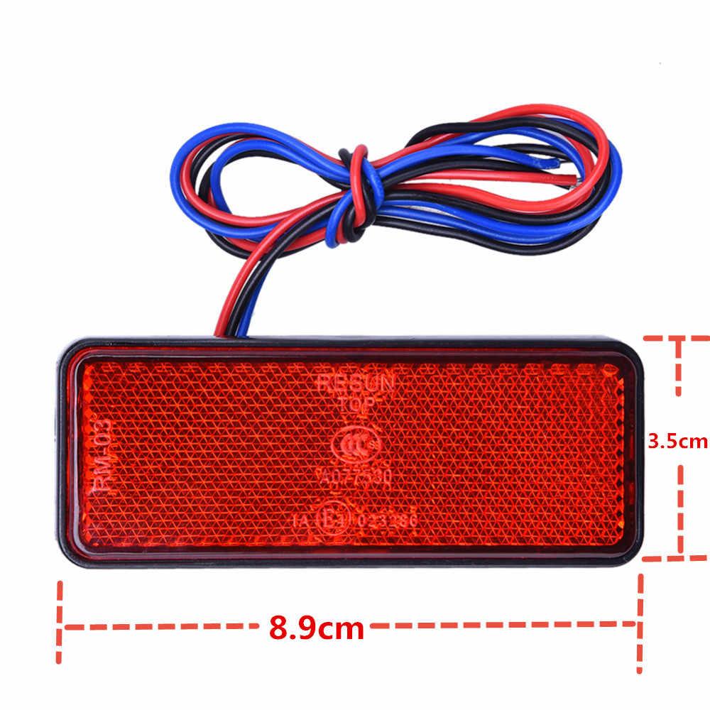 12 V Универсальный Светодиодный отражатель белый красный желтый задний стоп-сигнал для JEEP кроссовер, грузовик, трейлер, мотоцикл автомобиль