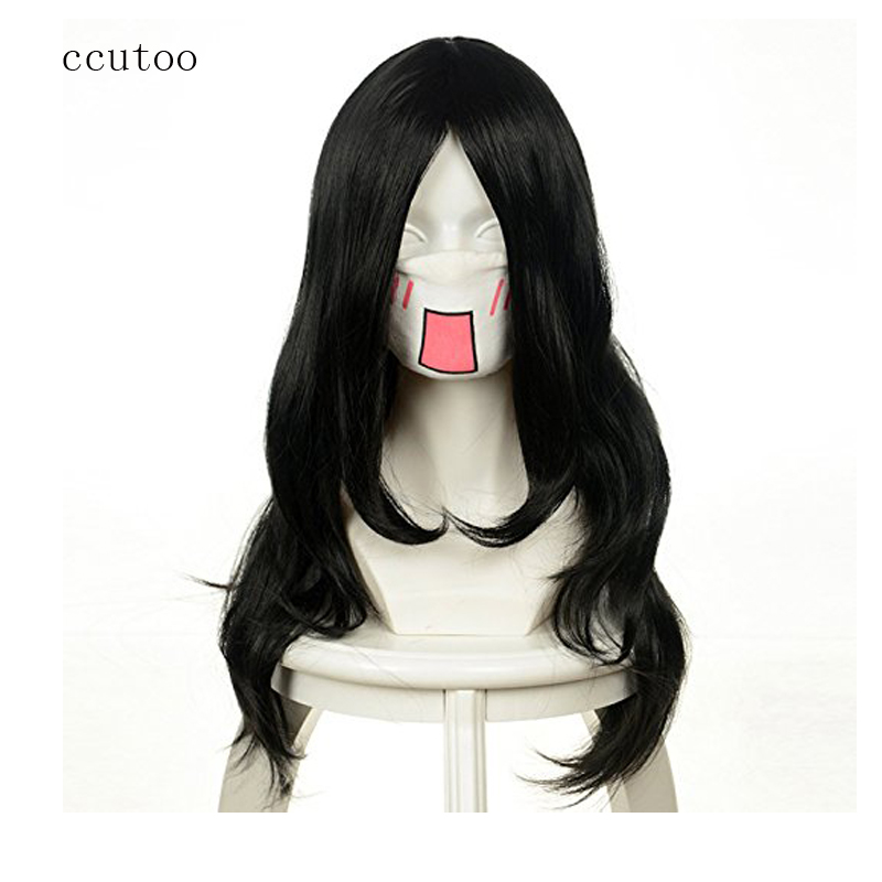 ccutoo NARUTO Orochimaru 65cm Curly Full Bangs Synthetic Hair Cosplay Costume Wig Heat Resistance fiber