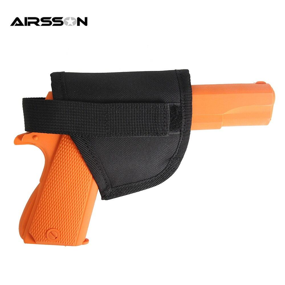 Military Nylon Magic Sticker Gun Holster Portable Tactical Hook Loop Handgun Pistol for Belt/Vest Airsoft Field Convenient Pack