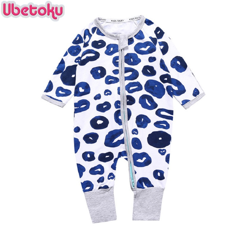 Ubetoku Newborn Baby boy girls Clothes Infant Romper Long Sleeve twins lips Print One Pieces kids
