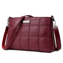 Women Handbag Leather Plaid Messenger Bags Sac a Main Shoulder Bags Women Crossbody Bag Ladies Designer High Quality Handbags