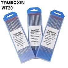лучшая цена 10 pcs red color code 150MM Thorium tungsten electrode head tungsten rod needle/wire for TIG WSME SUPER welding machine/tools
